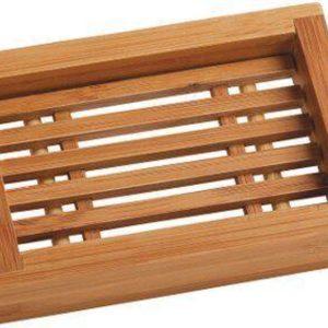 Bamboe zeepbakje rechthoek